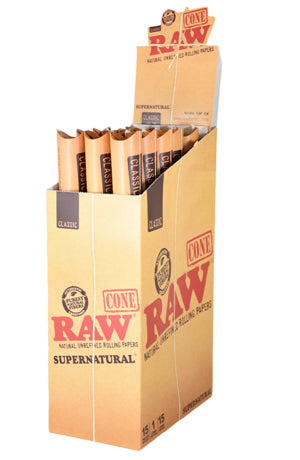 "RAW Classic Supernatural 12"" Cone - Bulldog420 Best Head Shop UK"