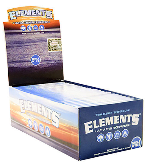 Box of Element Single Wides Papers - Bulldog420 Best Head Shop UK