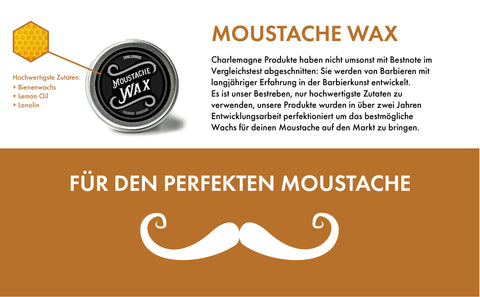 charlemagne moustache wachs bartwichse schnurrbart wachs moustache wax beard balm grooming beardcare haarpflege haarstyling hairstyling pomade haarkleber beardcare öl pomade pomade