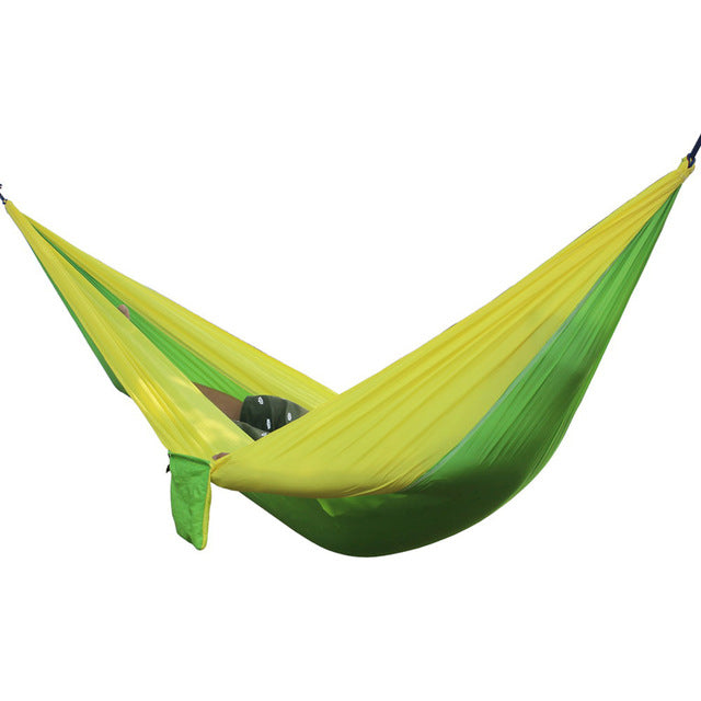 Portable Outdoor Hammock 2 Person Camping Hiking Travel Kits Garden Leisure Hammock 6 Colors Parachute Hammocks - Super Deal Hero