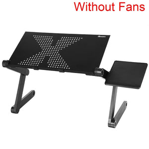 Homdox Computer Desk Portable Adjustable Foldable Laptop Notebook Lap PC Folding Desk Table Vented Stand Bed Tray N20*