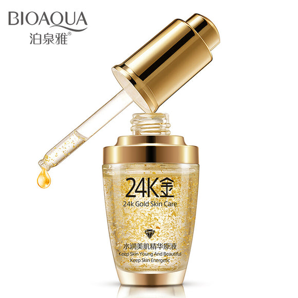 Bioaqua 24k Gold Face Cream Essence Day Cream Anti Wrinkle Face Anti Aging Collagen Whitening Hyaluronic Acid Liquid Skin Care - Super Deal Hero