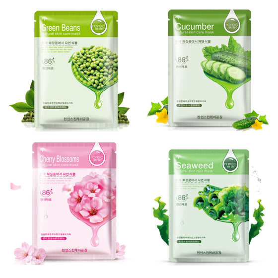 HanChan Skin Care Plant Facial Mask Moisturizing Oil Control Whitening Face Masks Multi Extract Makeup Products - Super Deal Hero