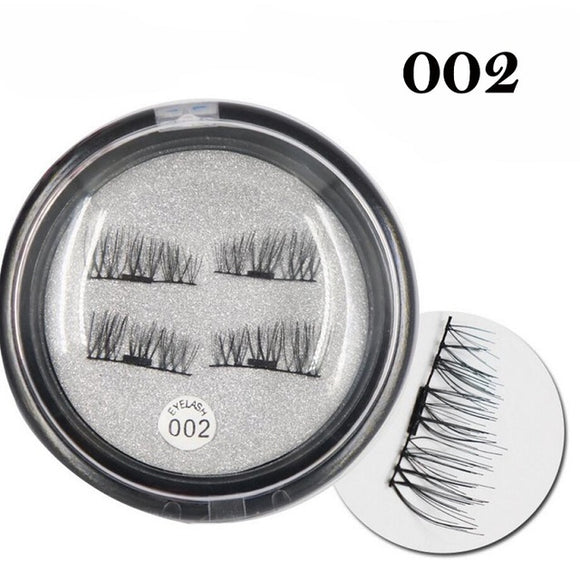 Shozy 4 Pcs/Pair Convenient Magnetic Eyelashes Eye Beauty Makeup Accessories Soft Hair Thick False Eyelashes Fake lashes-ECT010 - Super Deal Hero