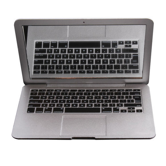 MirrorBook Air Silver Mini Novel Makeup MirrorBook Air Mirror For Apple MacBook Shaped HB88