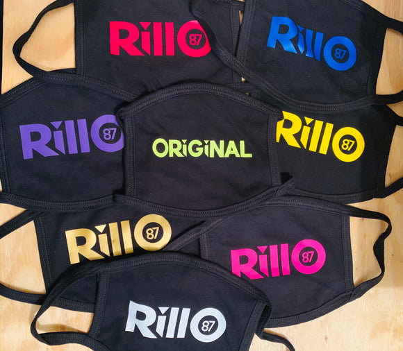 Rillo87 Black Face Mask