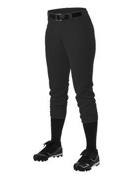 Women's Black Softball Pants