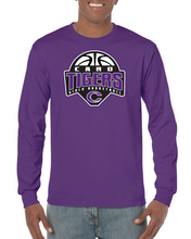 Caro Tigers Girls Basketball Long Sleeve Black & Purple
