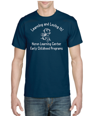 Huron Learning Center Adult Navy T-shirt