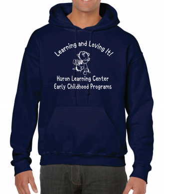 Huron Learning Center Adult Navy Hoodie
