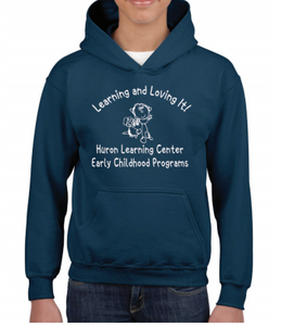 Huron Learning Center Youth Navy Hoodie