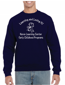 Huron Learning Center Adult Navy Crewneck