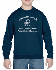 Huron Learning Center Youth Navy Crewneck