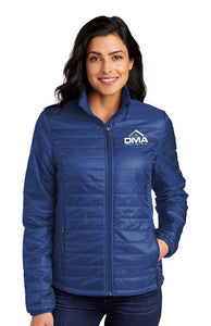 Ladies Packable Puffy Jacket Royal