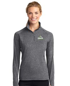 Ladies Sport-Wick Stretch 1/2 Zip Pullover Charcoal