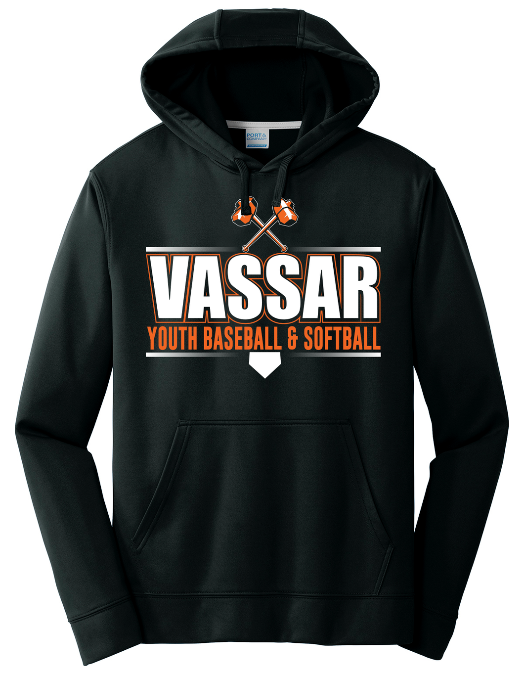 #4 Youth - Black Performance Dri-Fit Pullover Hoody