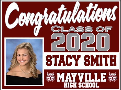 Mayville Senior Lawn Sign