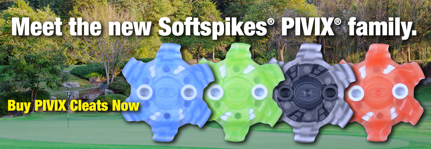 Introducing The New Softspikes PIVIX golf cleat family.