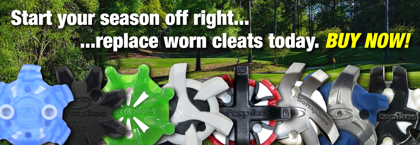 Replace your worn out golf cleats today.