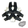 Tour Flex Bulk Golf Cleats (Fast Twist) | Black/White