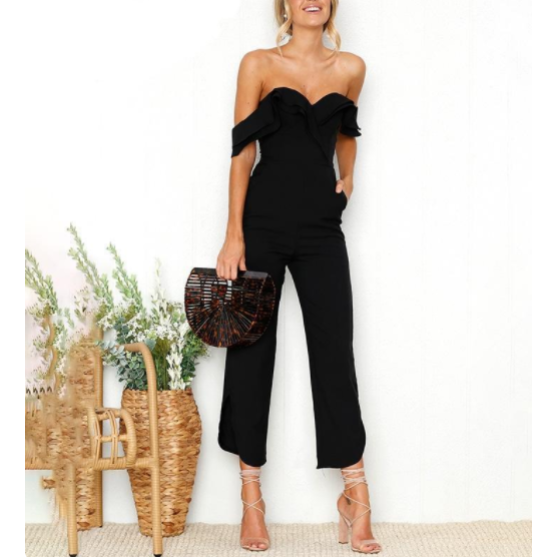 69f75e6d4e28e2 Backless Tiered Ruffle Ankle Jumpsuit - Trendsology ...