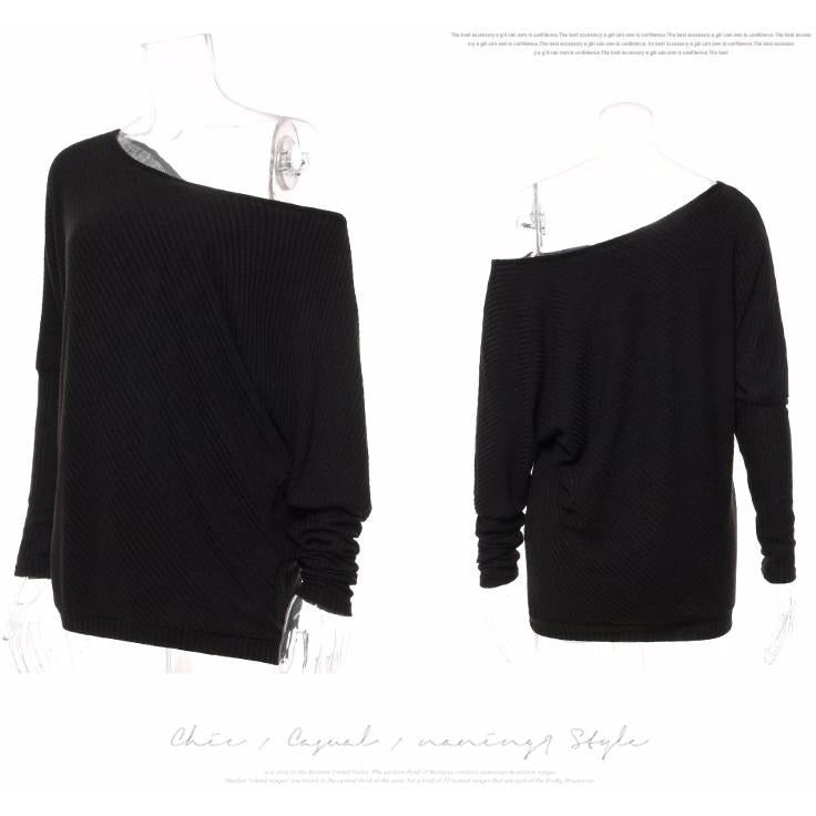 ... DICLOUD 2017 Autumn Women Tops Series Off Shoulder Sexy Top Tees  Knitted Thin Sweater Tees Autumn ... 899ab7662