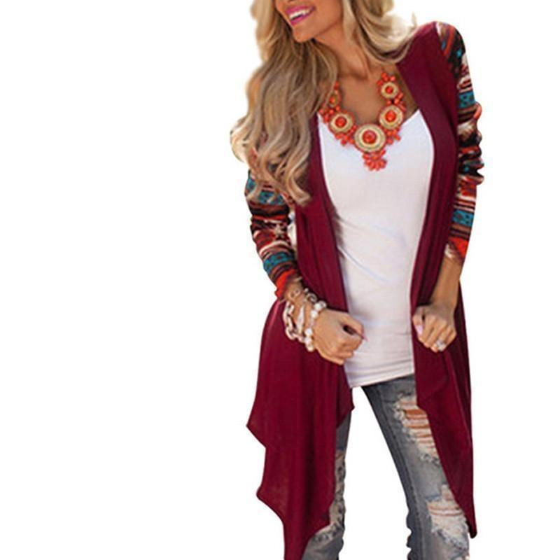 cdca538e244 Aztec Geometric Long Cardigan Sweater - Trendsology