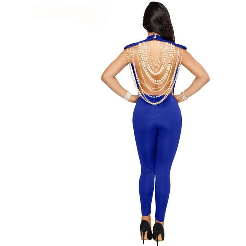 bd2b5de5abe ... Backless Pearl Chain Sleeveless Club Jumpsuit - Trendsology ...