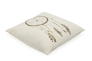 Pal Fabric Blended Linen Square 18x18 Dream Catcher Pillow Cover