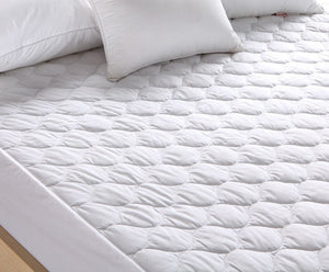 Pal Fabric Premium Mattress Pad -Hypoallergenic Fiber Fill Topper - Waterproof- Vinyl Free-Deep Fitted sheet FULL SIZE
