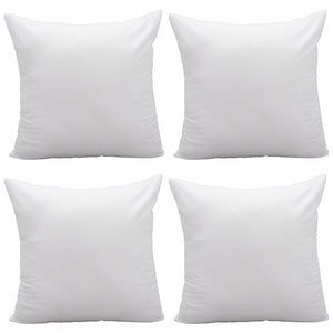 Pack of 4 Pal Fabric Square Pillow Insert for Sham or Decorative pillow For 18x18 Cover
