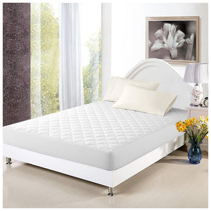 Pal Fabric 100%Cotton  Quited Ultra Thickness Mattress Protector-Stretch fitted Skirt- KING SIZE