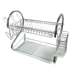 "16"" Two Tier Compact Dish Rack"