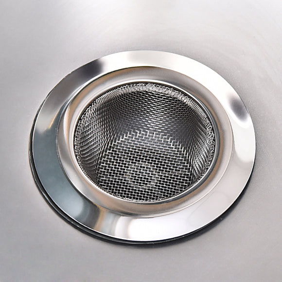 Stainless-Steel Kitchen Sink Strainer - Large Wide Rim 4.45