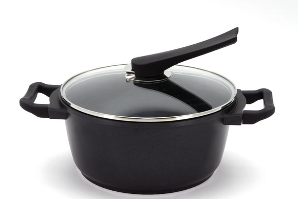 Non Stick Aluminum Die-Casting Dutch Oven Coating Stock  Pot ,  Lid  with stand. (24 cm , 7.0 Qt)