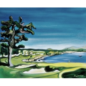 "18 at Pebble Beach 24""x36"" - SOLD"