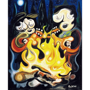 "Campfire 30""x40"" - SOLD"