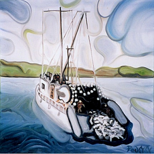 "Catch of the Day 24""x24"" - SOLD"