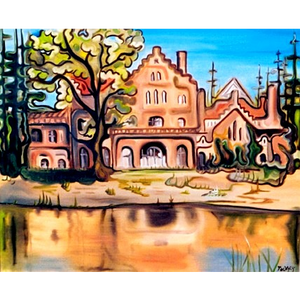 "Lake House (Home) 24""x36"" - SOLD"