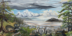 "Long Beach Tofino, BC 30""x60"" - SOLD"
