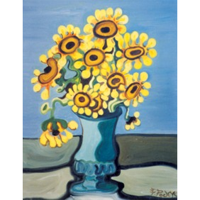 "Sunflowers in Vase 12""x18"" - SOLD"