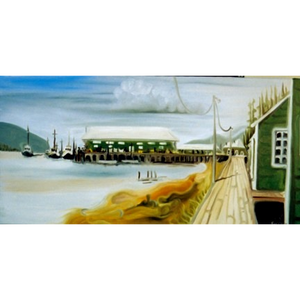 "West Coast Cannery 12""x24"" - SOLD"