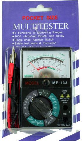 Tekpower MF133 Multimeter & Battery Tester