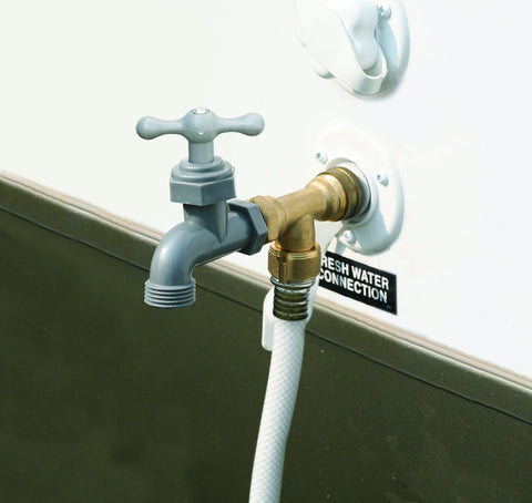 Camco RV 90 Degree Water Faucet / # 22463