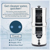 Travel Berkey water filter system , berkey water filters , berkey water filter canada