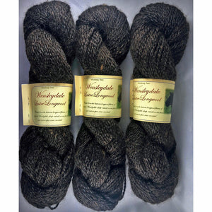Worsted Dark Brown Wensleydale Lamb Yarn