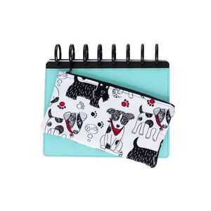 Deluxe Pen Pouch - Dogs (Black, White, and Red)
