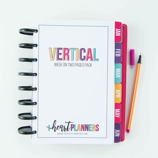 2021 Dated Vertical Weekly Spread Pack