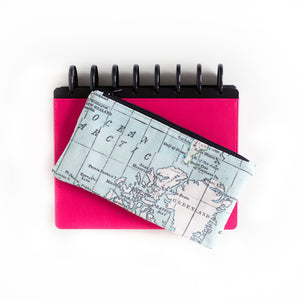 Deluxe Pen Pouch - Map