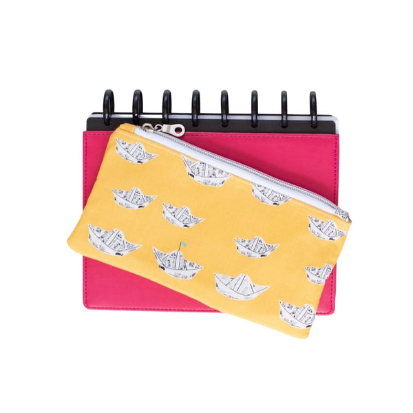 Deluxe Pen Pouch - Newspaper Boats